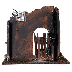 Illuminated temple with pillar for Nativity Scene 45x30x40 cm s4