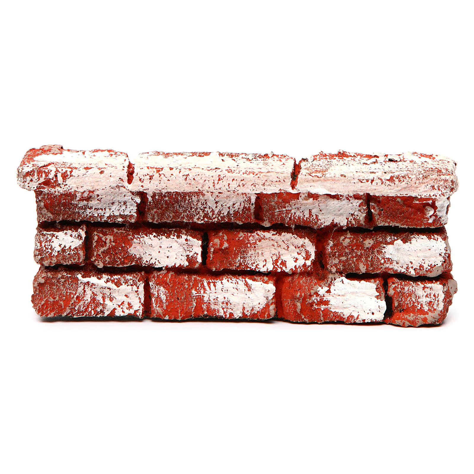 Mauerbrüstung, aus Polystyrol, farbig gefasst, 5x15x5 cm 4