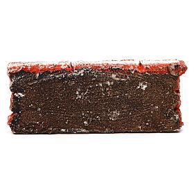Mauerbrüstung, aus Polystyrol, farbig gefasst, 5x15x5 cm s3