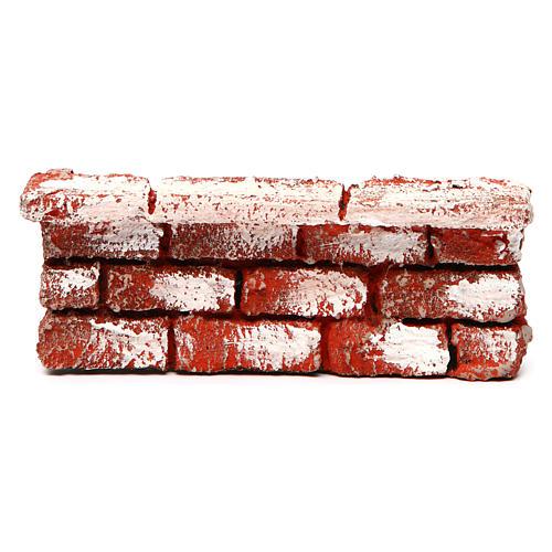 Mauerbrüstung, aus Polystyrol, farbig gefasst, 5x15x5 cm 1