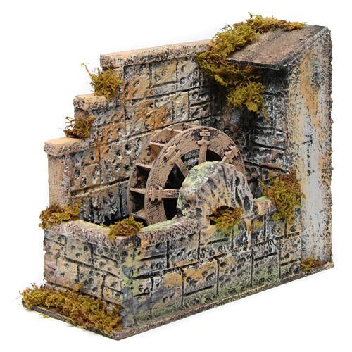 Water mill 20x25 cm Neapolitan Nativity 2