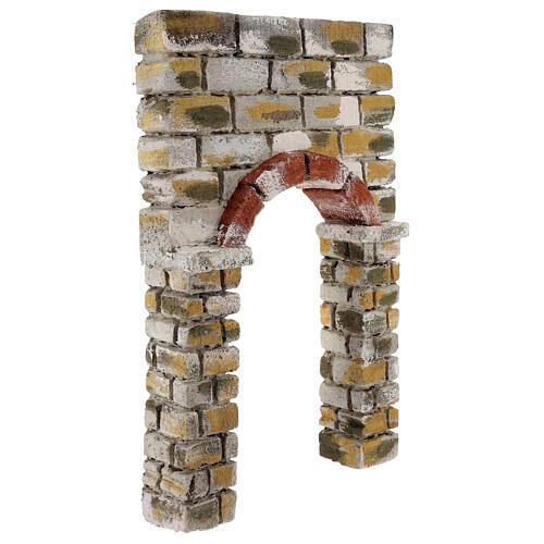Arc peint 30x5x20 cm crèche napolitaine 3