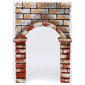 Presépio Napolitano: Arco pintado 30x5x20 cm presépio napolitano