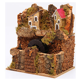 Nativity Watermill 15x15x10 cm Neapolitan s2
