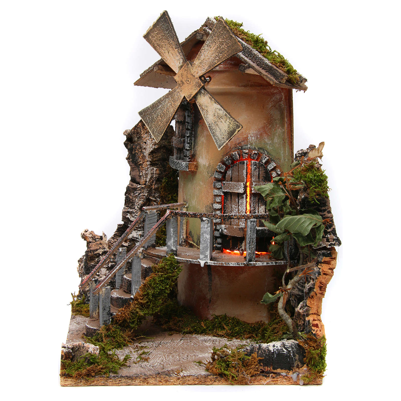 Windmill 35x25x30 cm for Neapolitan Nativity Scene 4