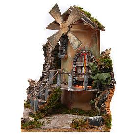 Windmill 35x25x30 cm for Neapolitan Nativity Scene s3