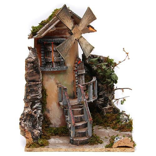 Windmill 35x25x30 cm for Neapolitan Nativity Scene 1