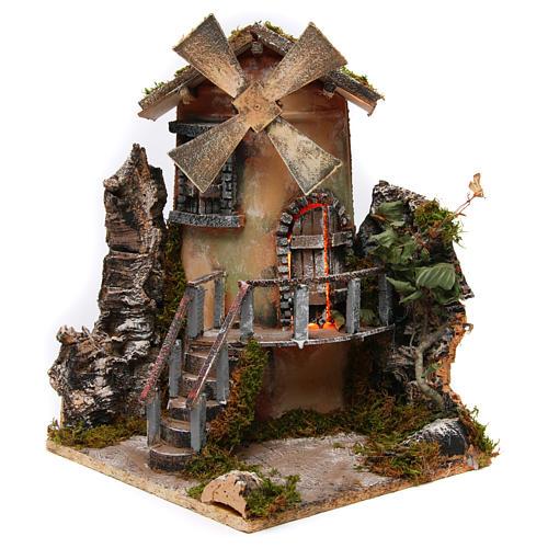 Windmill 35x25x30 cm for Neapolitan Nativity Scene 2