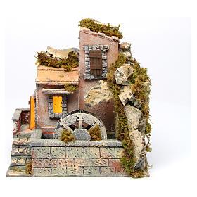 Watermill 30x30x20 cm for Neapolitan Nativity Scene s1