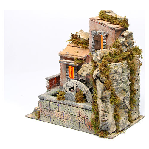 Watermill 30x30x20 cm for Neapolitan Nativity Scene 2