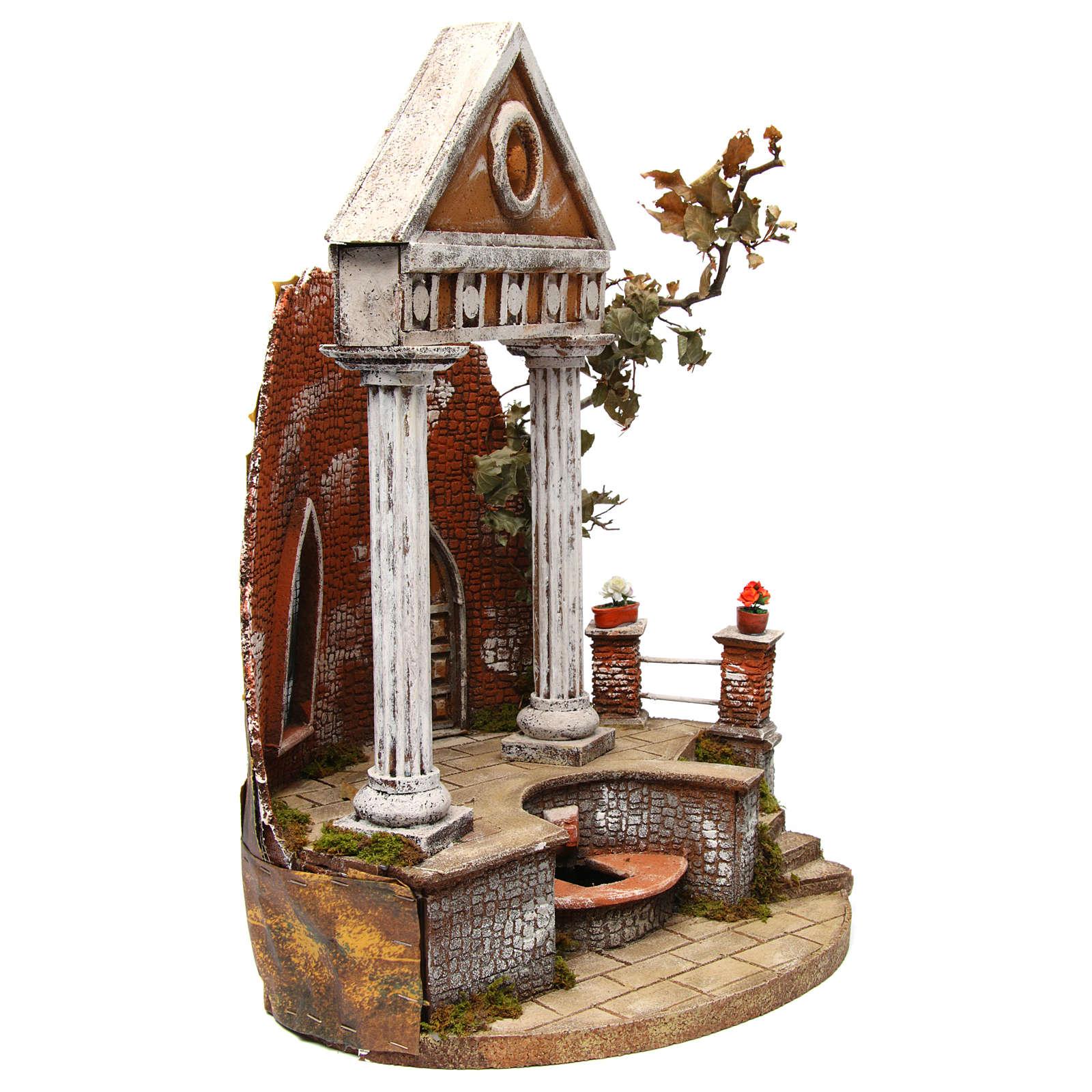 Templo 55x35x20 cm belén napolitano 4