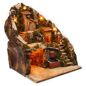 Village for Neapolitan Nativity Scene with fountain and lights 34x33x28 cm s3