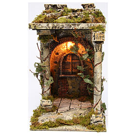 Old temple with pillars for Neapolitan Nativity scene 40x30x35 cm s1