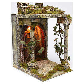 Rural temple with pillars for Neapolitan Nativity scene 40x30x35 cm s3