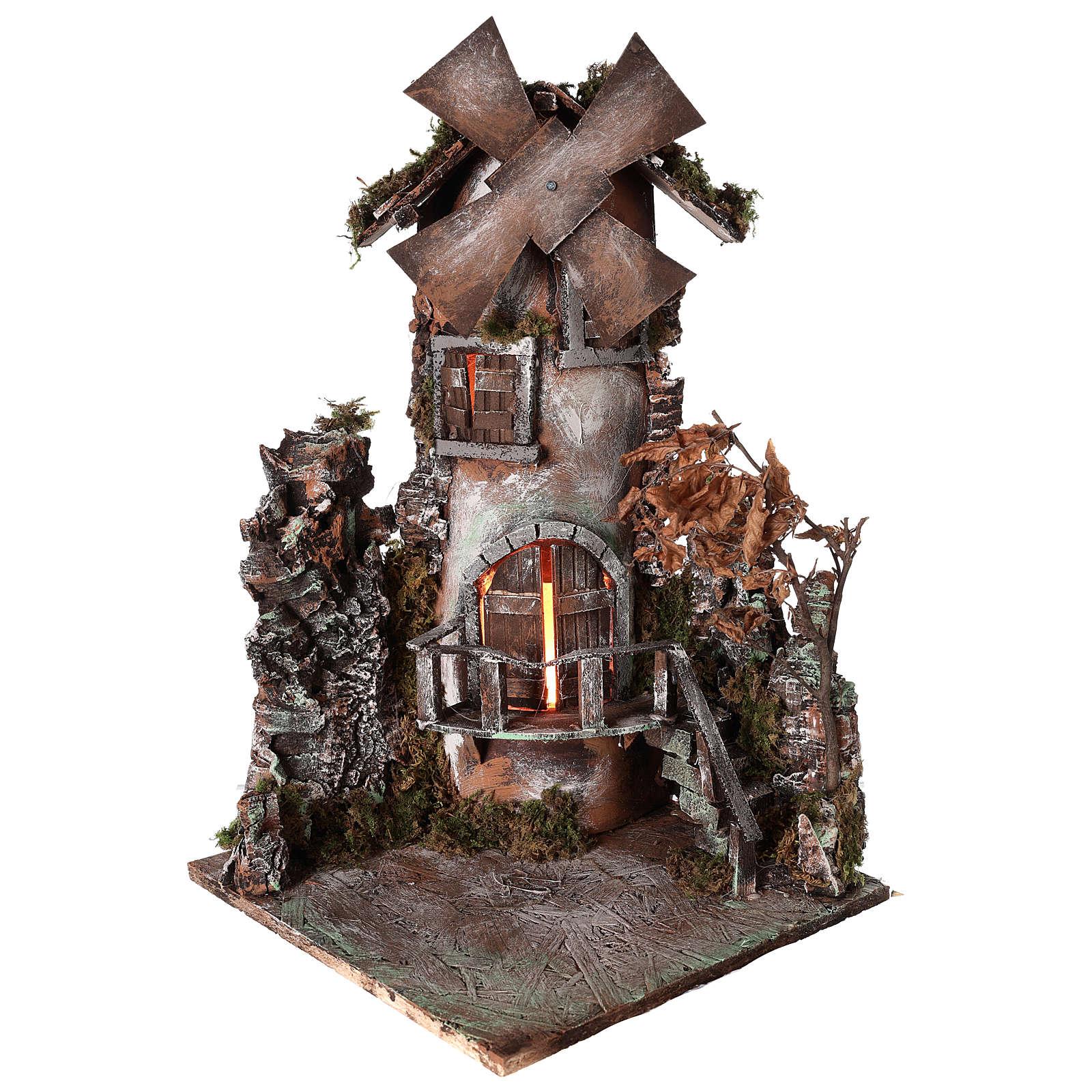 Moulin à vent 45x30x30 cm crèche napolitaine 4