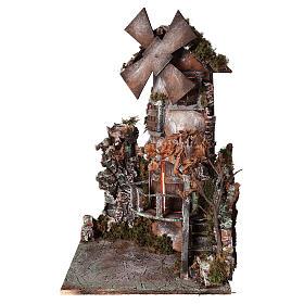 Moulin à vent 45x30x30 cm crèche napolitaine s1