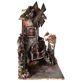 Moulin à vent 45x30x30 cm crèche napolitaine s3