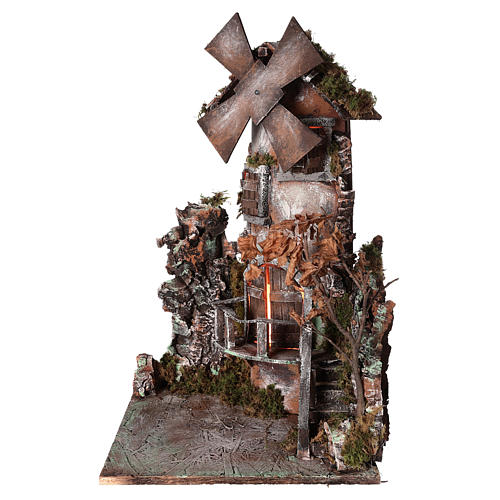 Moulin à vent 45x30x30 cm crèche napolitaine 1