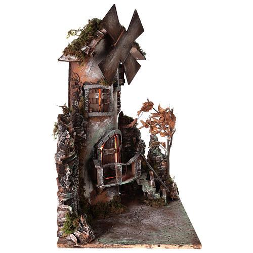 Moulin à vent 45x30x30 cm crèche napolitaine 3