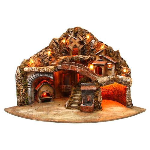 Village for Neapolitan Nativity scene 50x80x60 cm 1