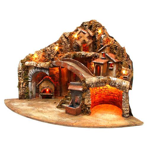 Village for Neapolitan Nativity scene 50x80x60 cm 2