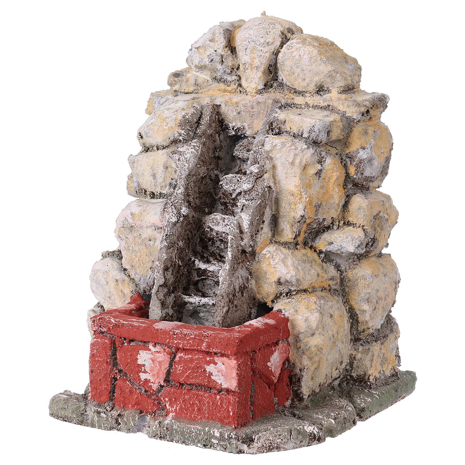 Set 5 fontane stuccate presepe napoletano 4