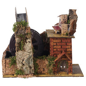 Watermill with bridge for Neapolitan Nativity Scene 20x15x20 cm s1