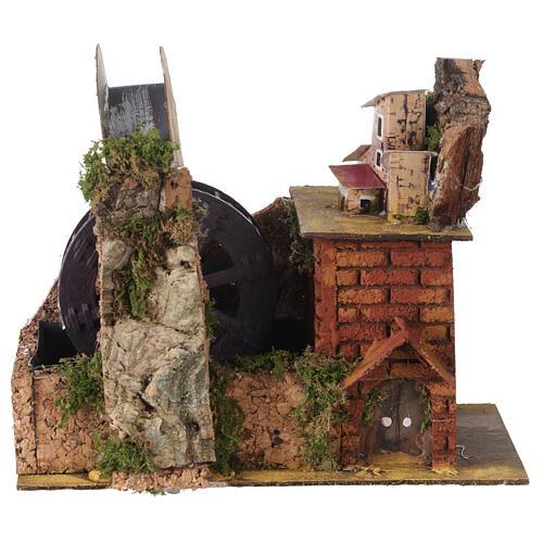 Watermill with bridge for Neapolitan Nativity Scene 20x15x20 cm 1