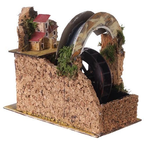 Watermill with bridge for Neapolitan Nativity Scene 20x15x20 cm 3
