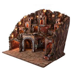 Village setting for Neapolitan Nativity scene 70x85x55 cm s4