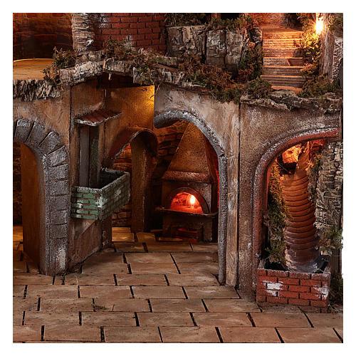 Village setting for Neapolitan Nativity scene 70x85x55 cm 3