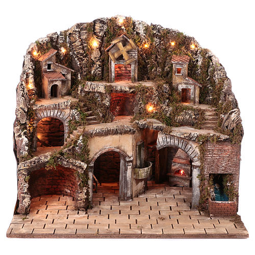 Hamlet for Neapolitan Nativity scene 70x85x55 cm 1