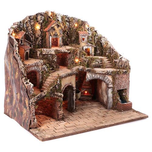 Hamlet for Neapolitan Nativity scene 70x85x55 cm 3