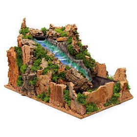 Waterfall for Nativity Scene 26x26x43 cm s3