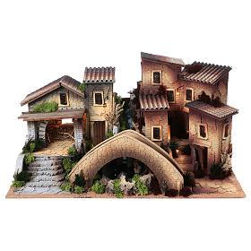 Ambientações para Presépio: lojas, casas, poços: Aldeia em miniatura para Presépio 45x80x45 cm