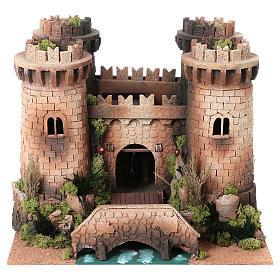 Castillo con puente levadizo en movimiento 40x50x60 cm s1