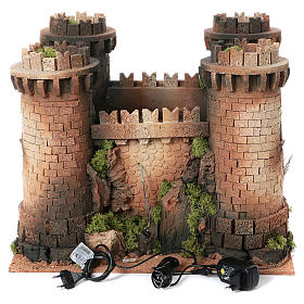 Castillo con puente levadizo en movimiento 40x50x60 cm s4