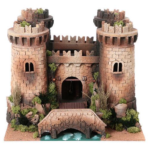Castillo con puente levadizo en movimiento 40x50x60 cm 1