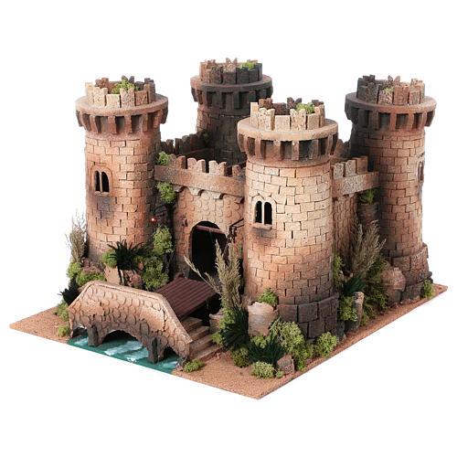 Castillo con puente levadizo en movimiento 40x50x60 cm 2