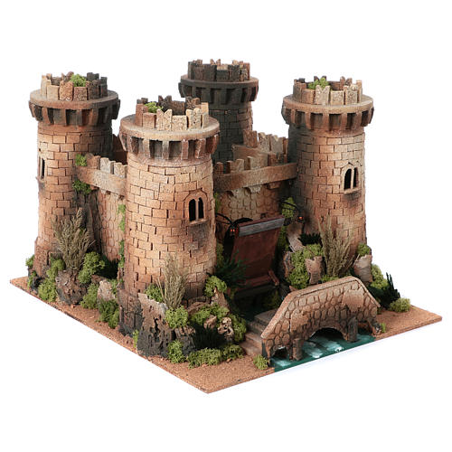 Castillo con puente levadizo en movimiento 40x50x60 cm 3