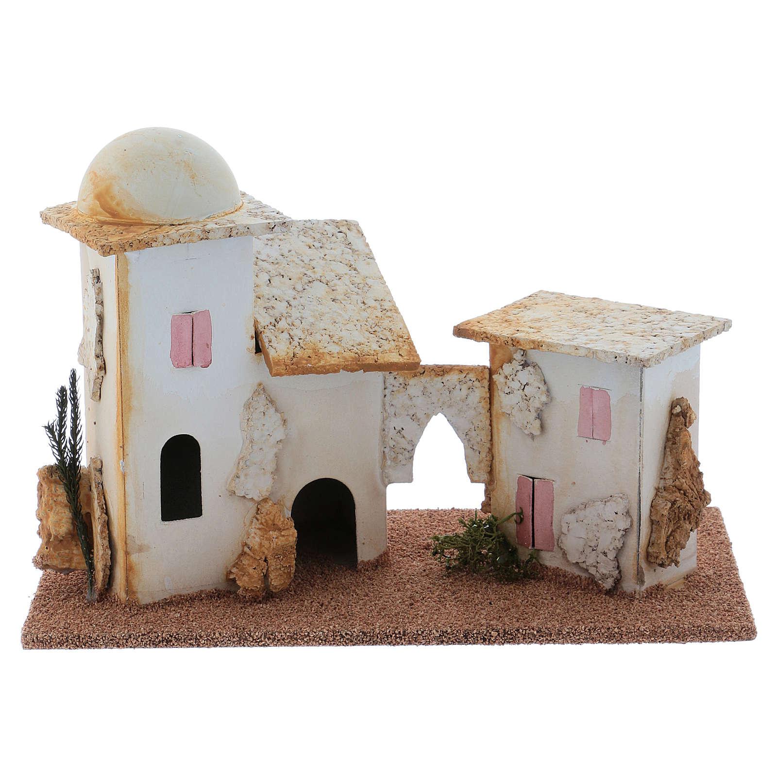 Nativity Scene double minaret setting 13x20x10 cm 4