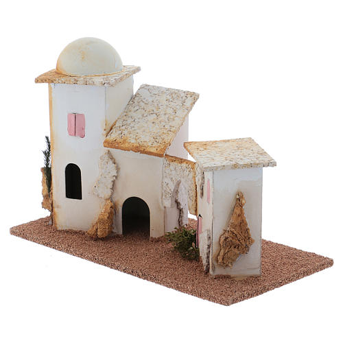 Nativity Scene double minaret setting 13x20x10 cm 2