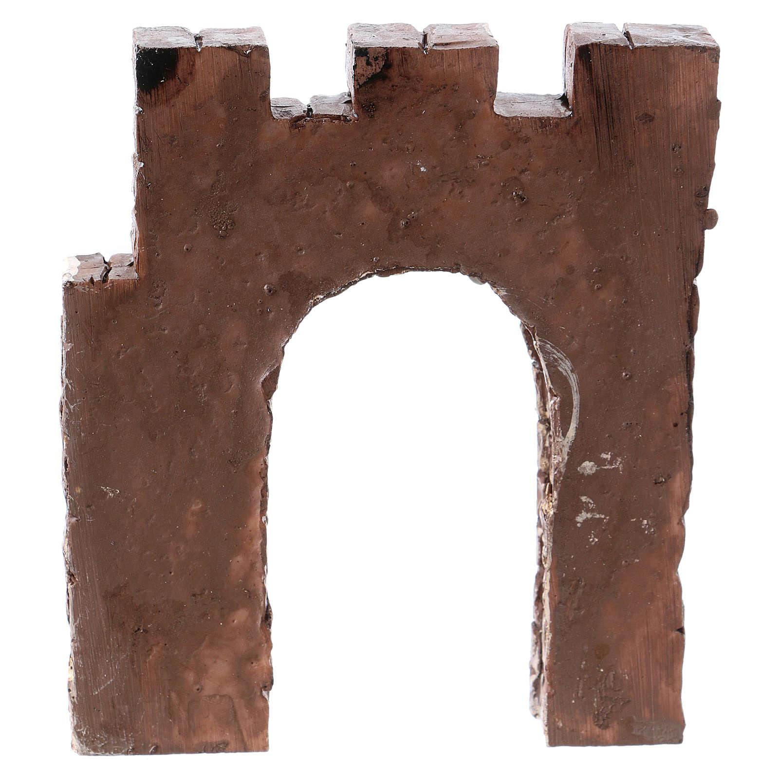Wand mit bogen 9x11x2cm für Krippe 4