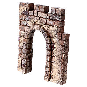 Wall with arch 10x10x2 cm in resin for Nativity Scene s2