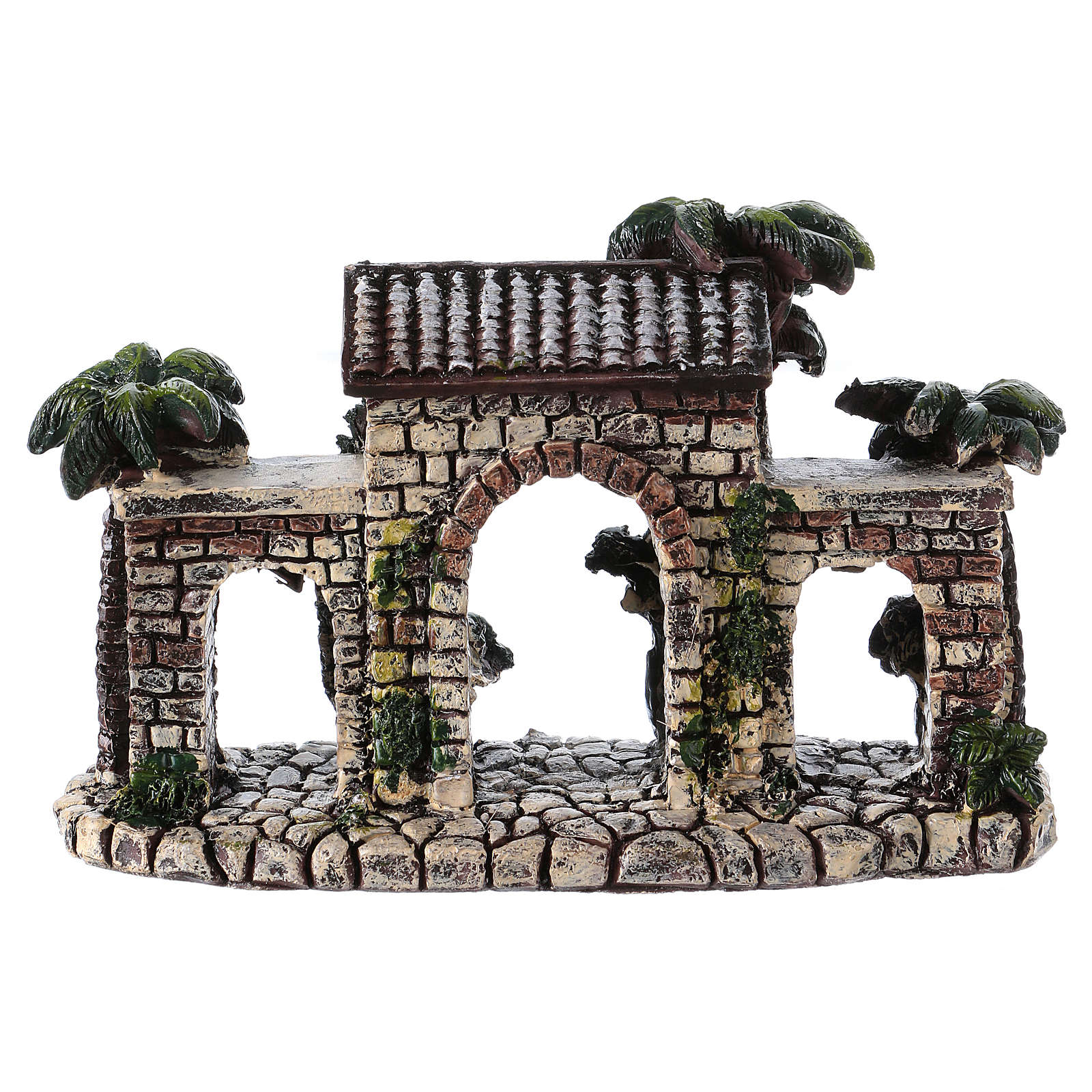 Wall with arches 5x15x5 cm in resin for Nativity Scene 4