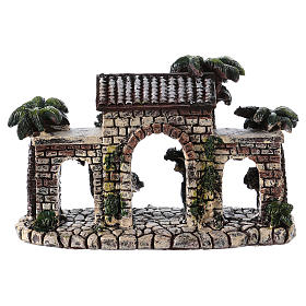 Wall with arches 5x15x5 cm in resin for Nativity Scene s2
