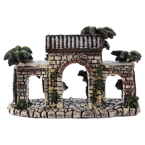 Wall with arches 5x15x5 cm in resin for Nativity Scene 2
