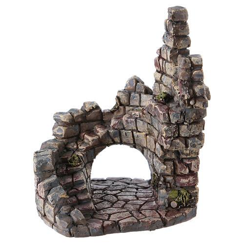 Ruine de tour 10x5x5 cm résine pour crèche 1