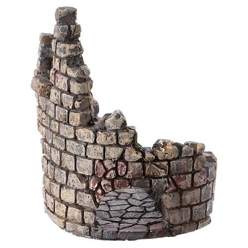 Ruine de tour 10x5x5 cm résine pour crèche 2