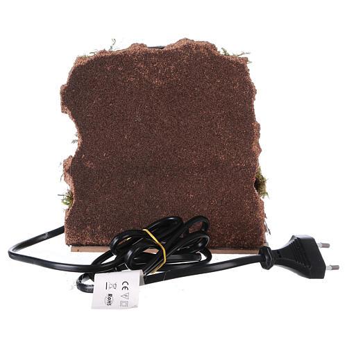 Horno con lámpara efecto llama 15x15x10 cm para belén 4